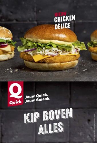 Quick zet 'Kip boven alles' in nieuwe campagne.
