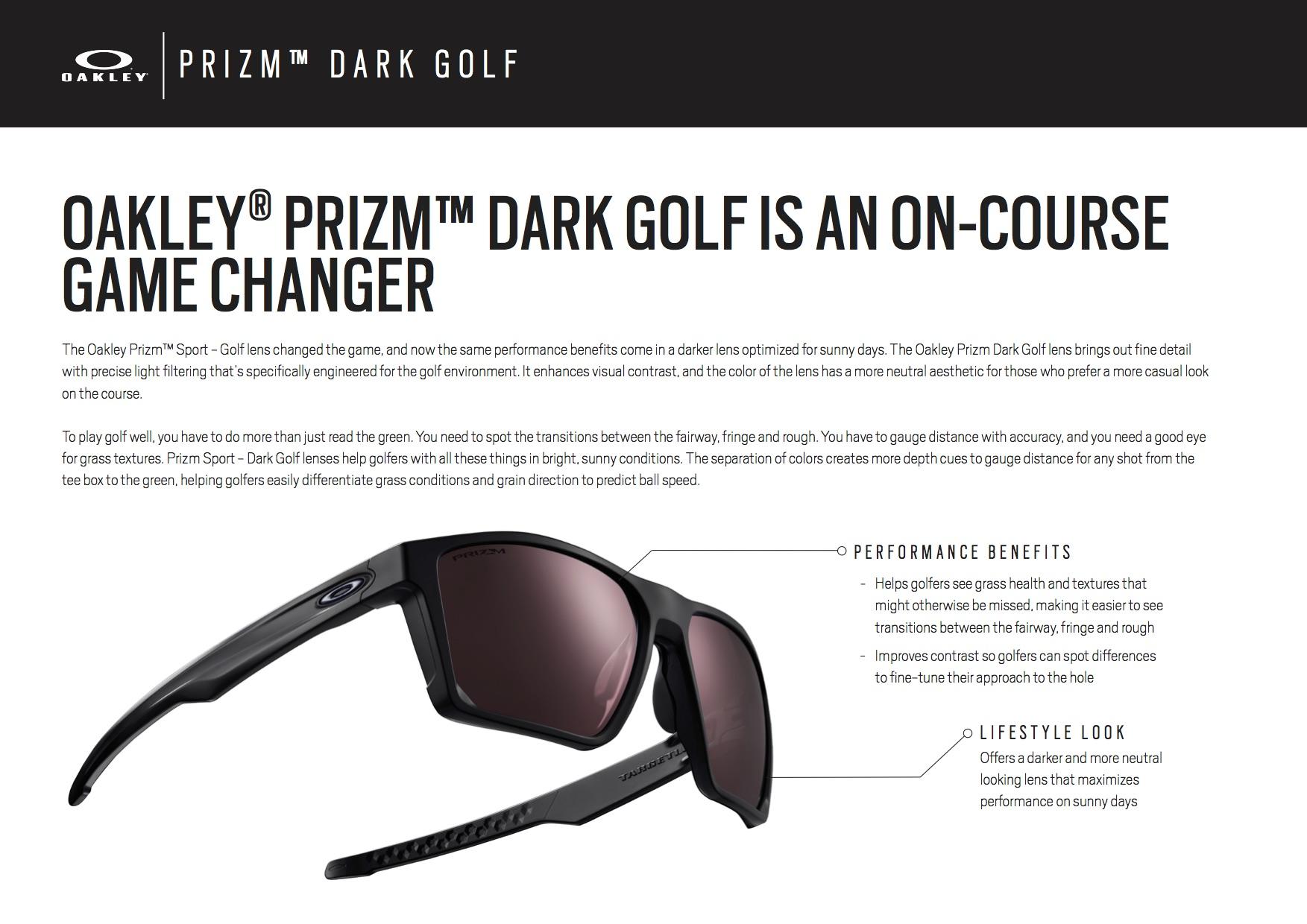 oakley golf dark