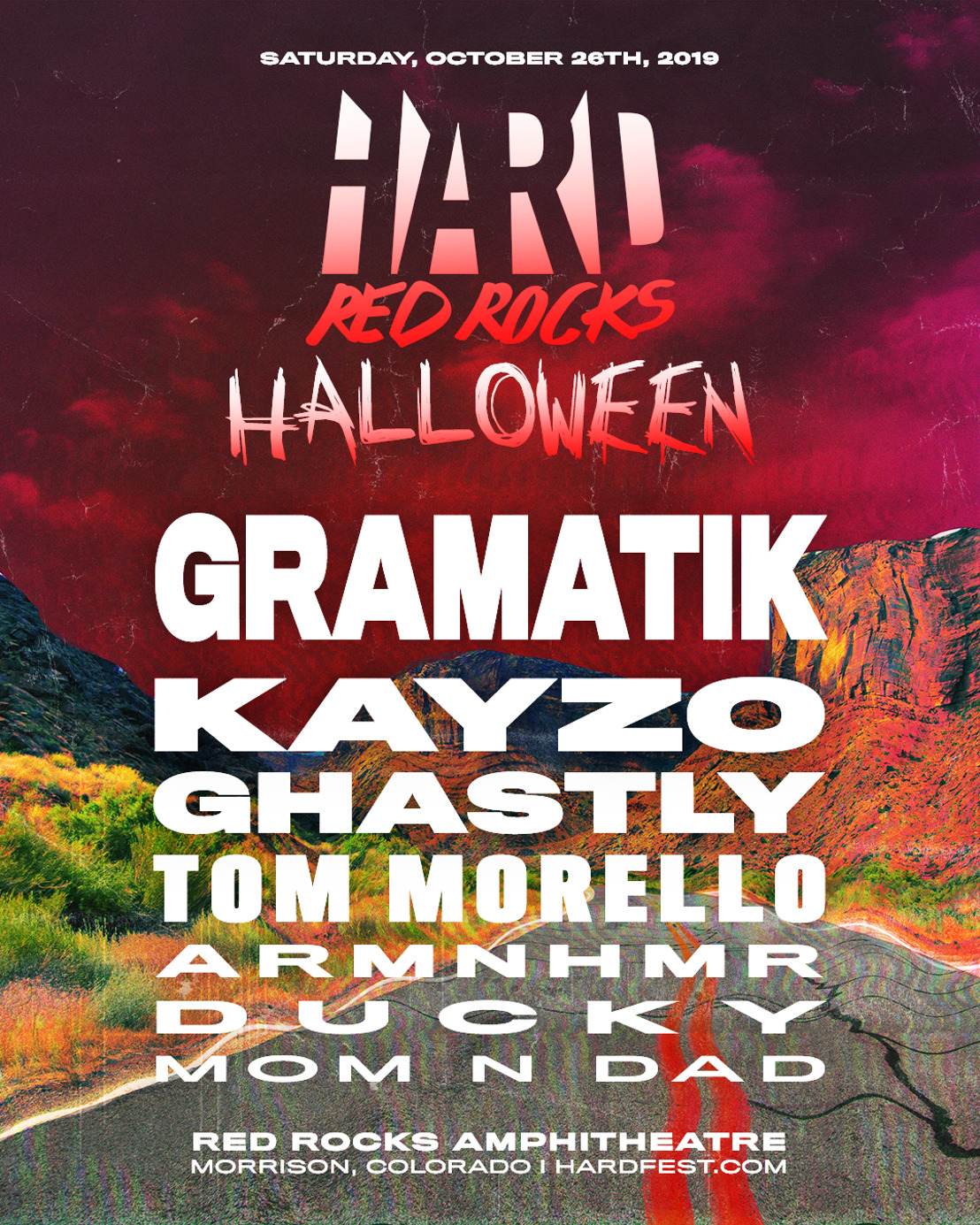 HARD Announces Red Rocks 2019 on Saturday, October 26