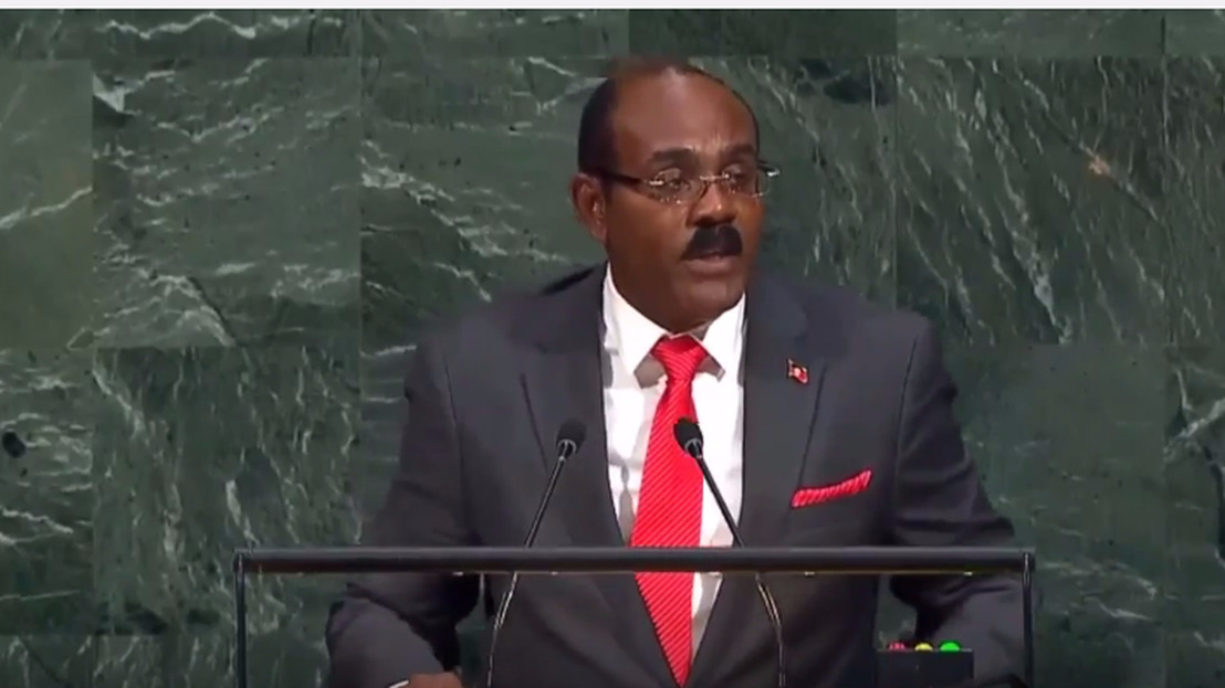Hon. Gaston Browne, Prime Minister of Antigua and Barbuda, addresses the general debate of the 72nd Session of the General Assembly of the UN