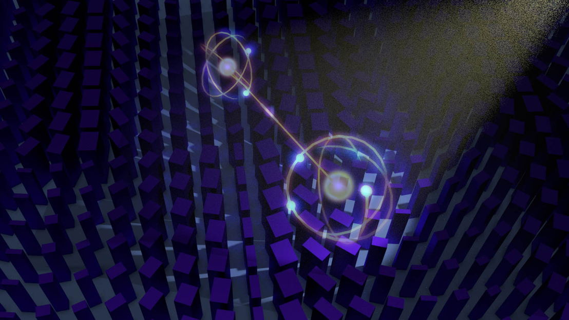 Artist's impression of the meta surface camera lens to image several quantum particles of light at once. Image credit: Kai Wang