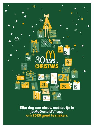 Preview: McDonald's® maakt 2020 (een beetje) goed met 30 dagen kerst.