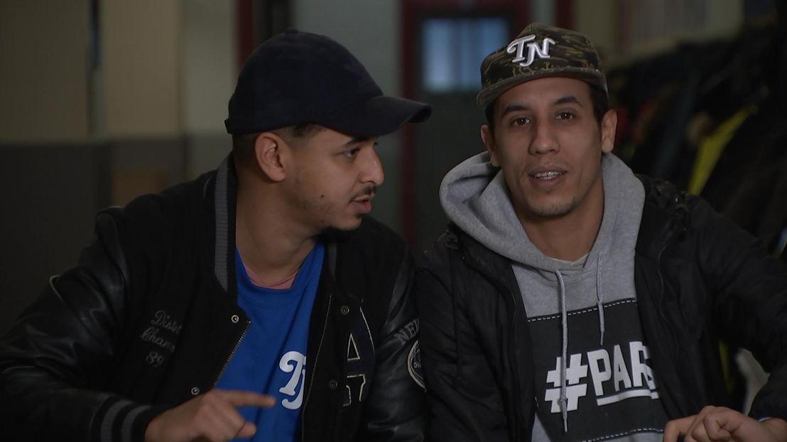 Salahdine Ibnou Kacemi  en Saïd Boumazoughe van SLM - (c) VRT