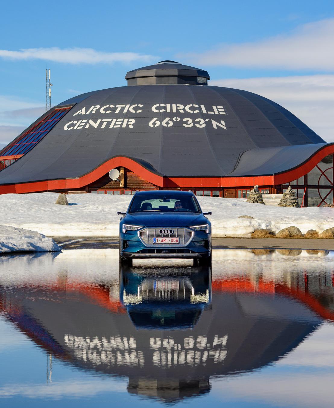 Voyager à l'électricité : direction le cercle polaire arctique avec l'Audi e-tron