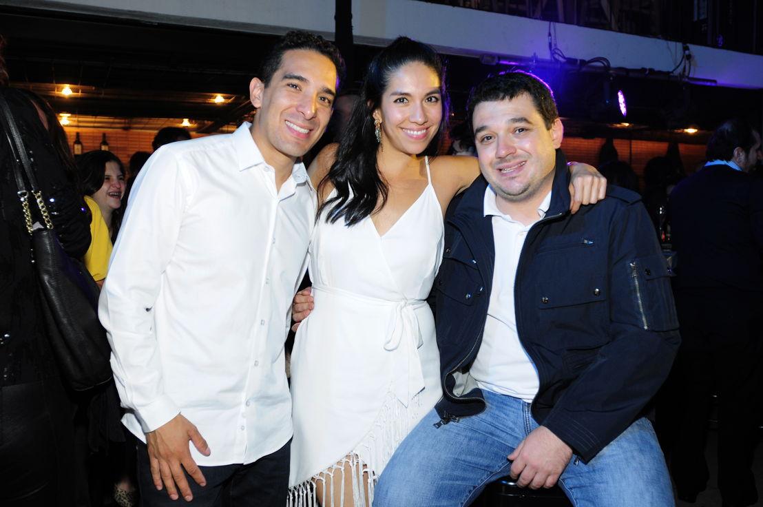 Massimo Bottura, Malena Cardiel y Andoni Luis