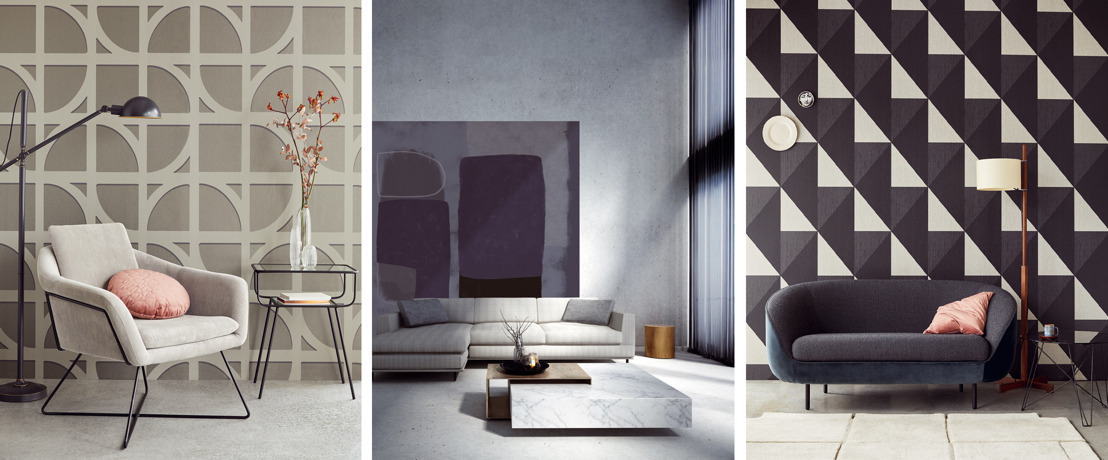 Behangpapier merk Eijffinger imponeert met monumentale dessins in modern jasje