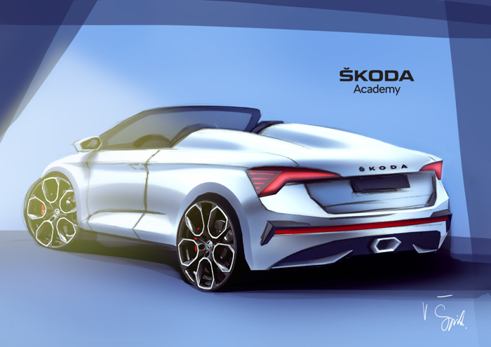 Seventh ŠKODA Student Concept Car is taking shape: Students are working on a Spider variant of the ŠKODA SCALA