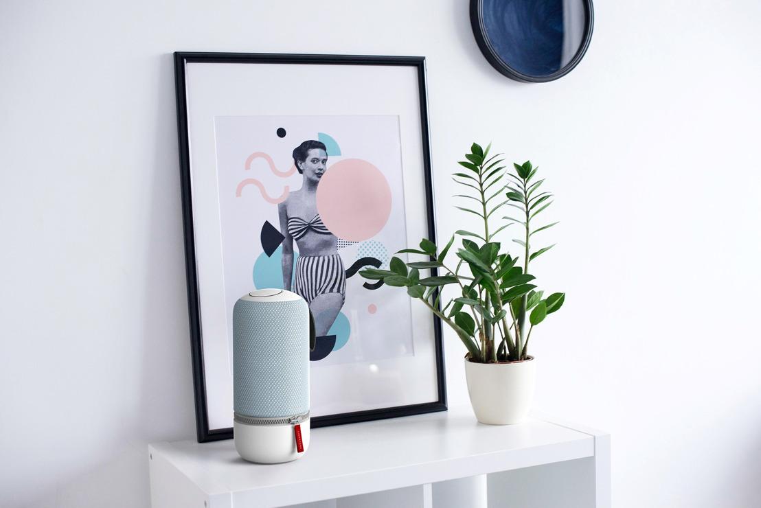 De Libratone ZIPP-speaker in een vrolijk kleurtje zorgt voor een instant lentegevoel