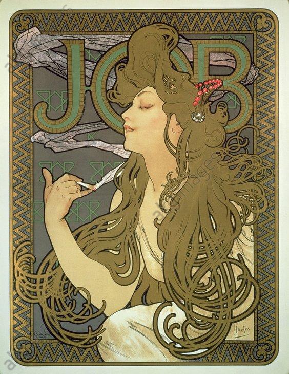 Poster for cigarette paper JOB, 1896<br/>AKG1006677