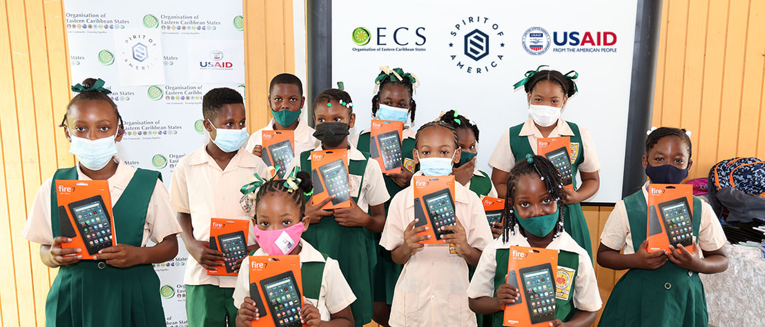 OECS Partners with USAID and Spirit of America to Provide Saint Lucian Students with Tablet Devices