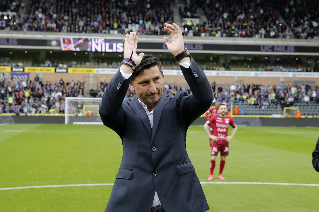 Le RSC Anderlecht remercie Luc Nilis pour sa visite et son engagement, mais n'a pas trouvé d'accord