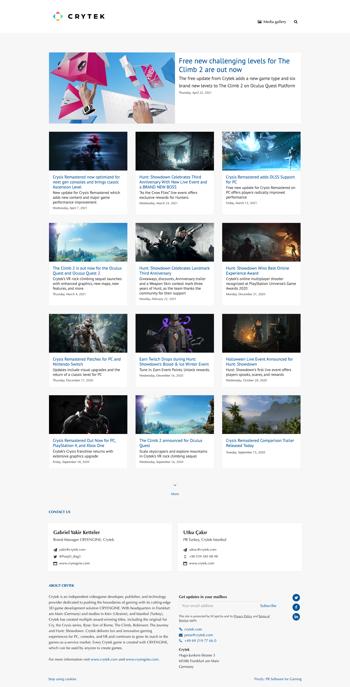A gaming news hub