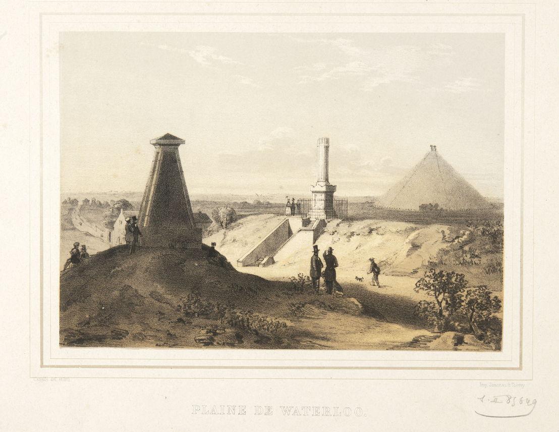 &#039;Les monuments de Waterloo&#039;, anonyme<br/>© Bibliothèque royale de Belgique