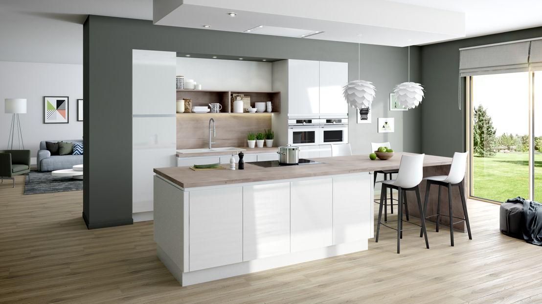 Keukeneiland: hout is nog steeds in (keuken  825) ©èggo