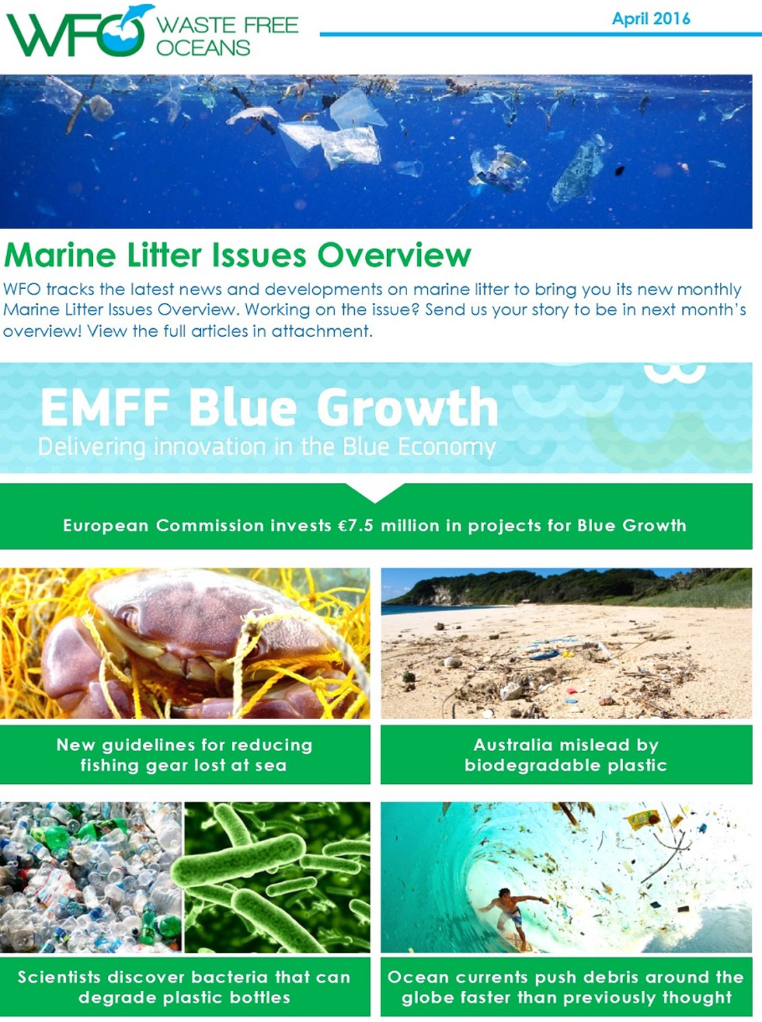WFO Marine Litter Issues Overview - April 2016