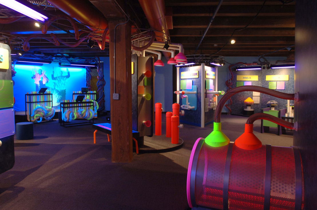 Blue Man Group - Making Waves Exhibit (Photo Credit: Boston Children's Museum)