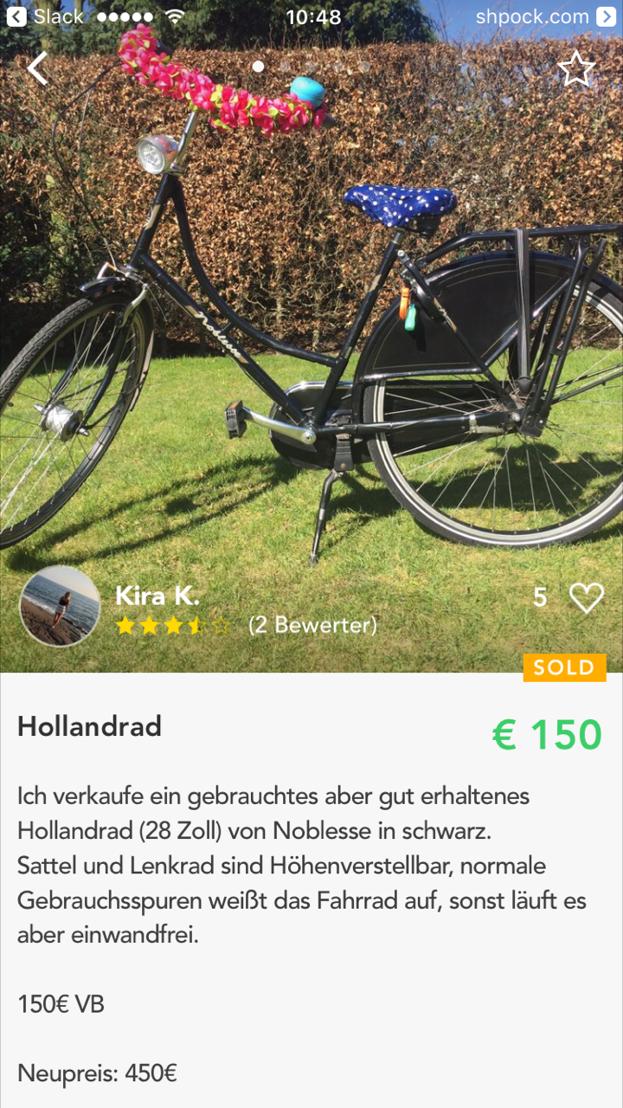 Hollandrad - (c) Shpock - Abdruck honorarfrei