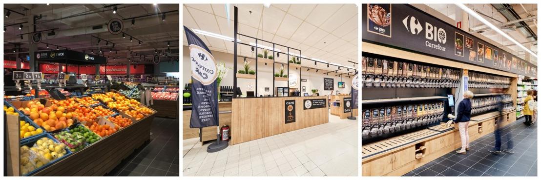 Carrefour België blijft innoveren en vernieuwt haar hypermarkten voor een ongeëvenaarde shoppingervaring
