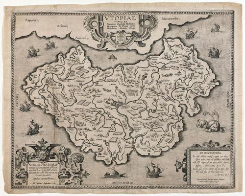 Preview: Unieke kaart 'Utopia' van Ortelius nu in collectie Koning Boudewijnstichting