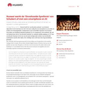 Huawei werkt de 'Onvoltooide Symfonie' van Schubert af met een smartphone en AI