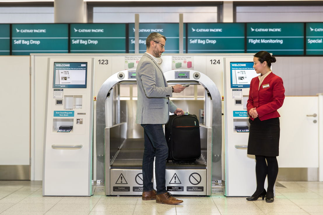 The latest technology completes the whole check-in and bag-drop process in just under a minute.