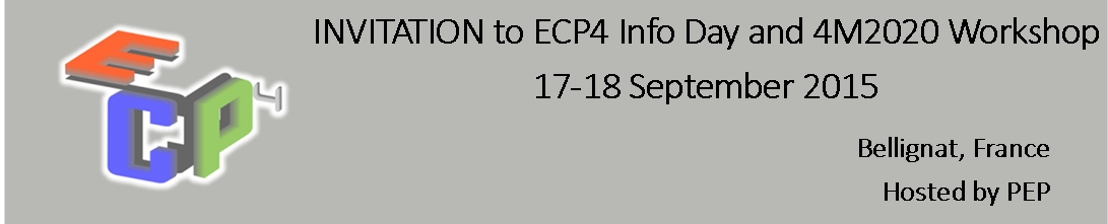 INVITATION to ECP4 Info Day and 4M2020 workshop