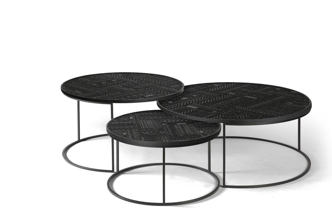 Ancestors Tabwa round nesting coffee tables - set of 3