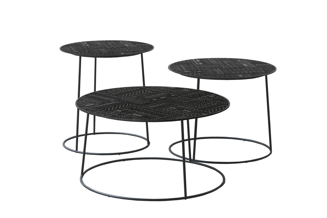 Ancestors Tabwa side tables- set of 3