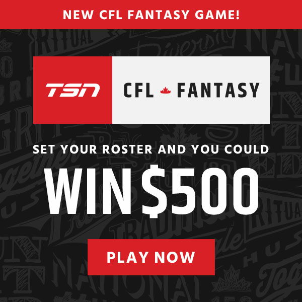 Top players can win prizes! Set your roster now at CFLFantasy.TSN.ca