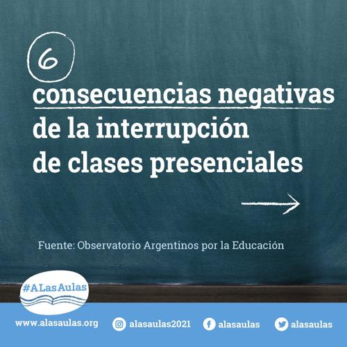 Estudios muestran que la interrupción de clases presenciales pone en riesgo los aprendizajes y aumenta la brecha educativa
