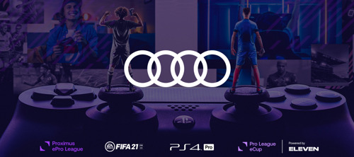 Audi trotse esportspartner Pro League en Eleven Sports
