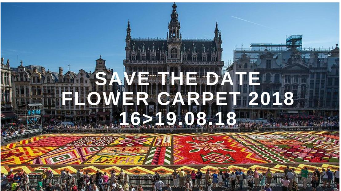 Save the date : le Tapis de Fleurs de Bruxelles aura lieu cet été du 16 au 19 août