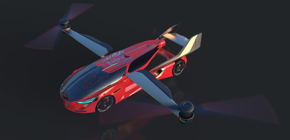 "AeroMobil 5.0 ""Sky Dragon"" concept flight mode"