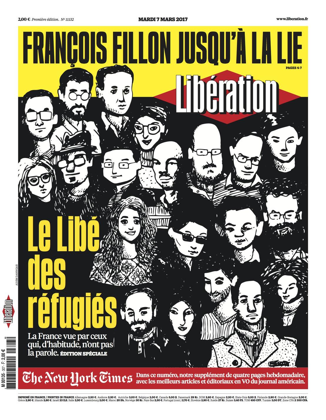 Libération présente son numéro spécial la France vue par les Réfugiés #LibédesRéfugiés