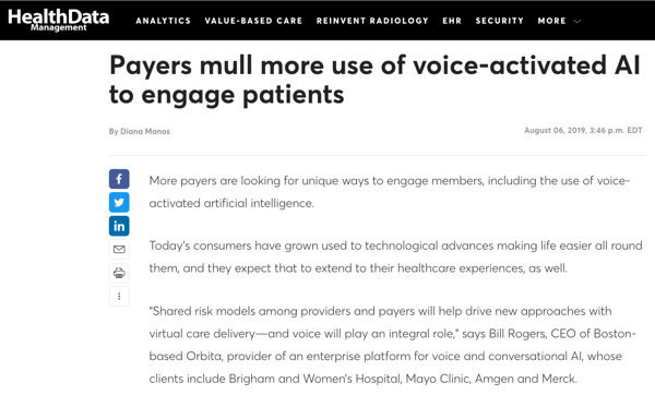 Preview: Payers mull more use of voice-activated AI to engage patients