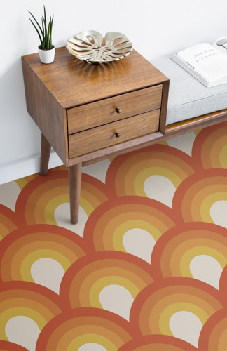 1970s flooring gets its groove back with a contemporary twist