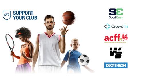 """""""SUPPORT YOUR CLUB"""" vient en aide au monde sportifamateur en associant des campagnes de crowdfunding adaptées aux clubs et du don défiscalisé."""