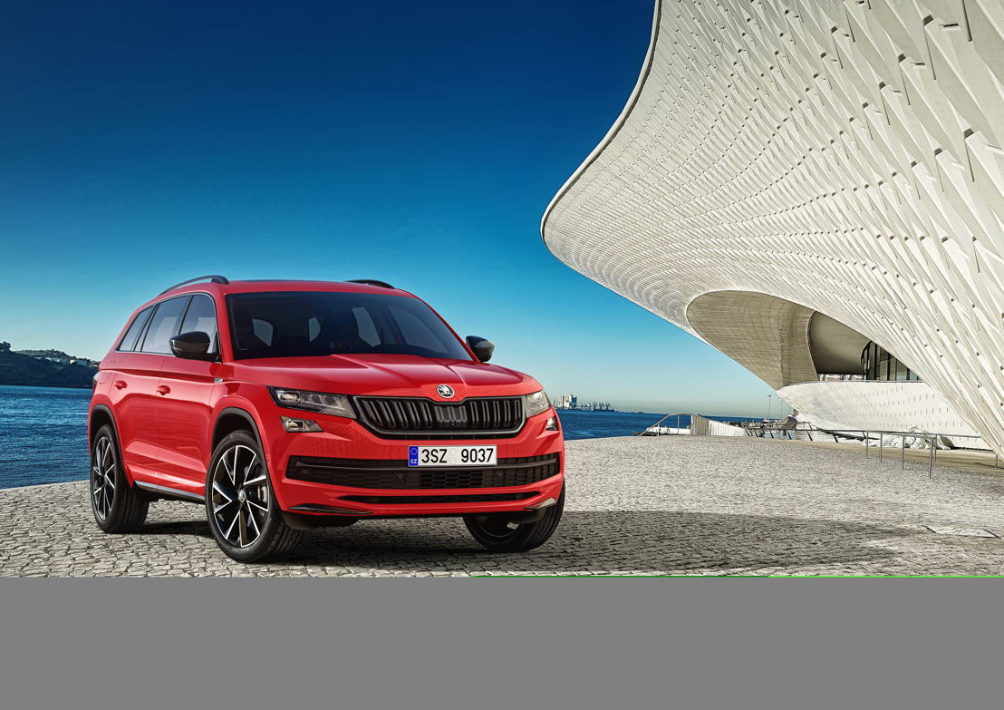 For fans of a sporty appearance, the ŠKODA KODIAQ SPORTLINE has been designed as an elegant and dynamic SUV variant. The exterior and interior are both characterised by specially designed features. There is a choice of four engine versions available for the ŠKODA KODIAQ SPORTLINE.