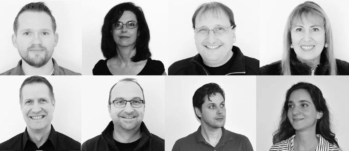 L-R (Top Row) Joshua Morris, Nancy Flannery, Sergio Molho, Silvia Molho. L-R (Bottom Row) Dirk Noy, Gabriel Hauser, Matthew Ballos, Romina Larregina