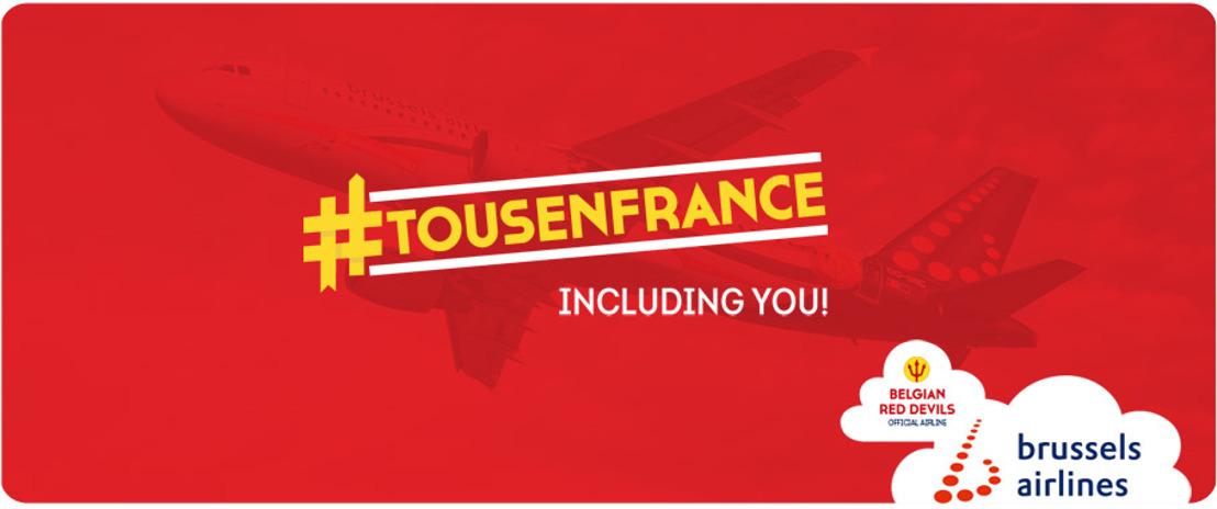 """Brussels Airlines lanceert """"TousenFrance"""" vluchten voor het EK"""