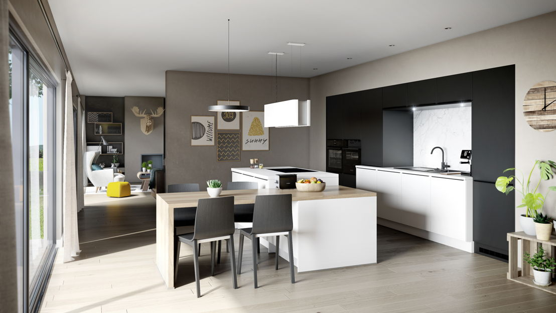 Keukeneiland met eethoek (keuken 900) ©èggo
