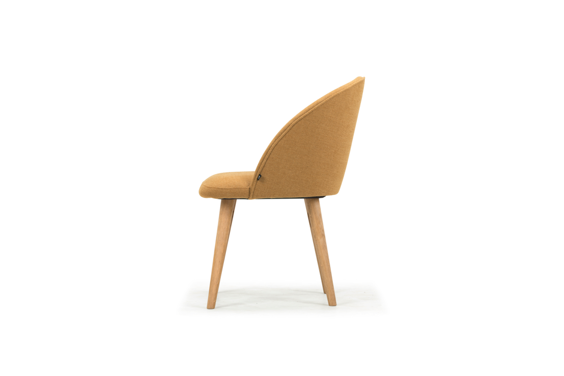 Vern, Dining Chair, Legend Orchre, Oak Soap Legs