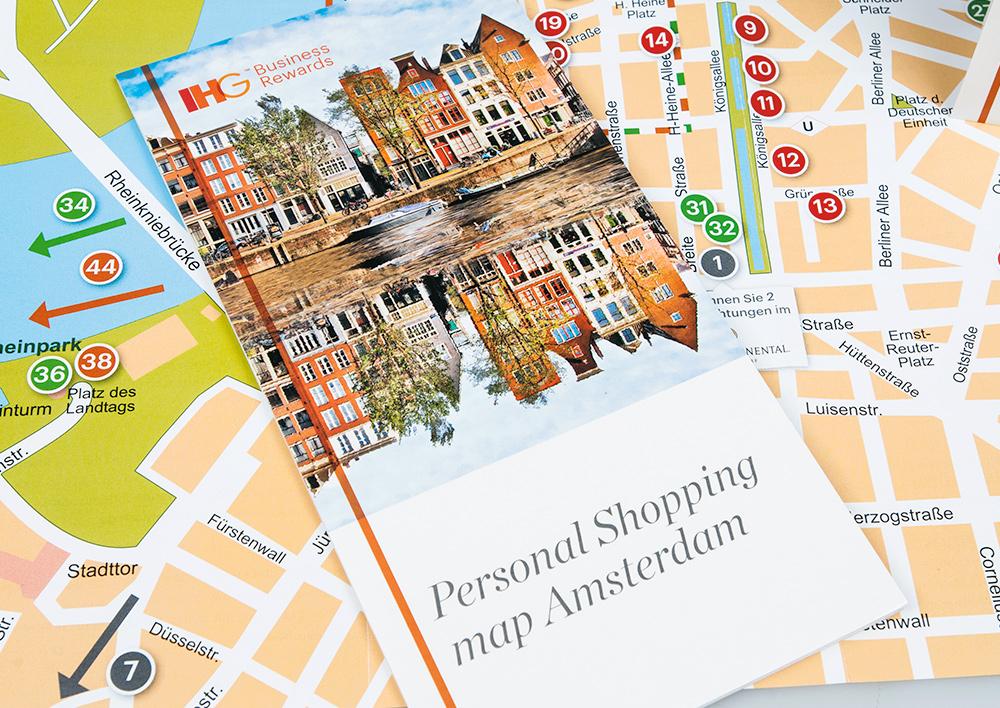 Personal Shopping map Amsterdam