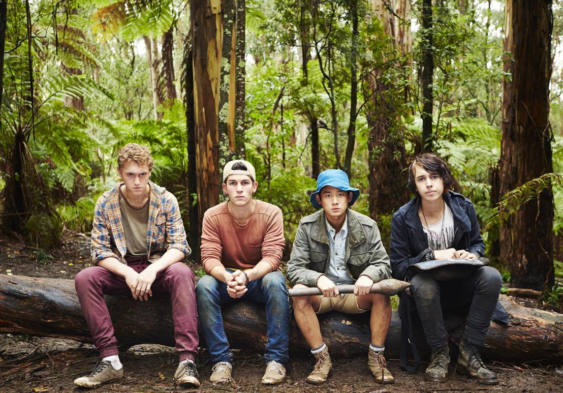 Nowhere Boys - Jake (Matt Testro), Sam (Rahart Sadiqzai), Andy (Joel Lok) and Felix (Dougie Baldwin)