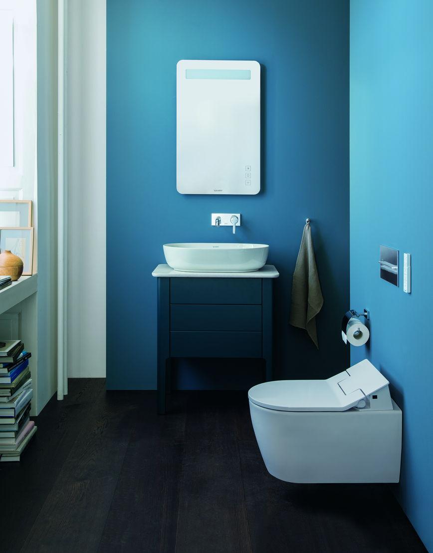 Tendance salle de bains le design pur ou color pour for Meuble de salle de bain facq