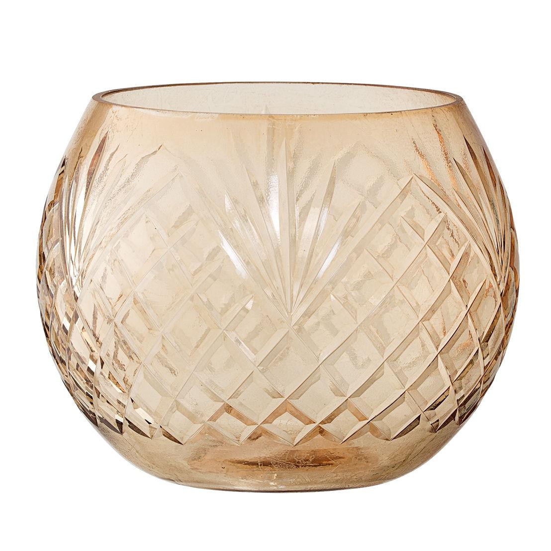 Bloomingville Waxinelichthouder glas, brown - €15