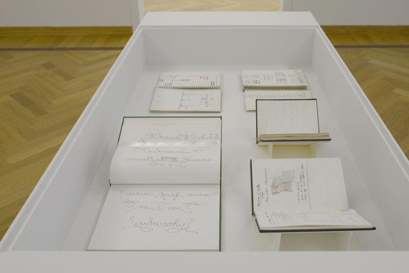 View of the exhibition Guy de Cointet at M-Museum Leuven (c) Isabelle Arthuis