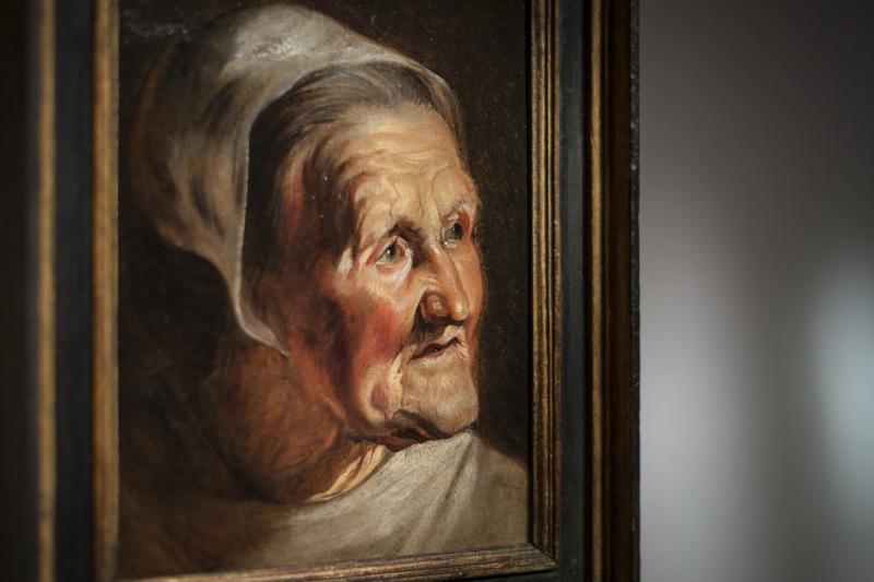 Jacob jordaens, Studiekop van een oude vrouw, (c) Ans Brys
