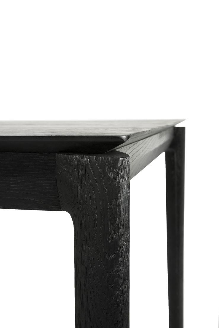 Ethnicraft Oak Bok dining table black_detail
