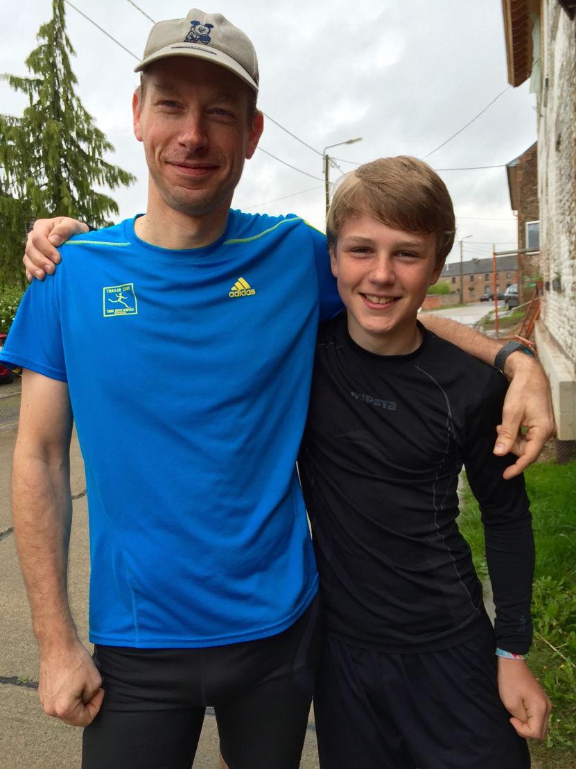 Theo Clotman met vader